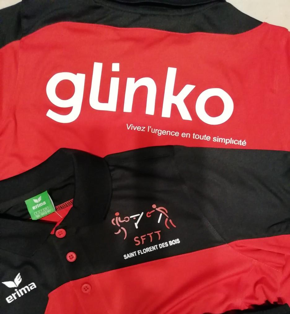 Nouveaux maillots et shorts pour nos jeunes offerts par notre partenaire gLinko